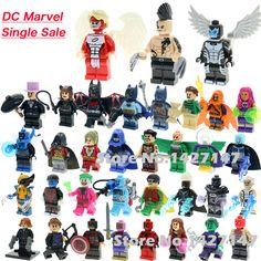 Single Sale DC Marvel superheros batman joker X-MEN Archangel Daken building blocks self-locking action toys for children