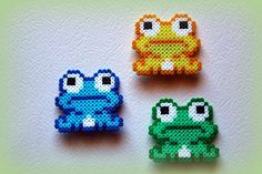 Frogs hama beads by  ArtesanDroides