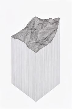 Drawings by Katy Ann Gilmore Influenced by topography and the relationship between 2D, perpendicular planes and their distortions into 3D space.