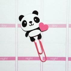 Panda Paper Clip // Planner Clip // Bookmark // by CuteByDesignCo