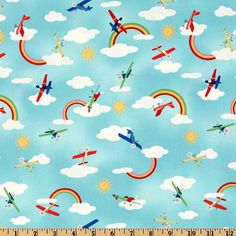 SALE  Cotton Fabric by the Yard  Michael Miller  Fly by ModFox, $5.50