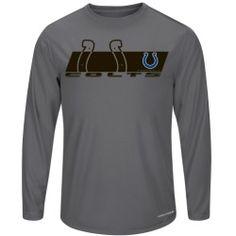 Mens Indianapolis Colts Majestic Gray Short Yardage VI Long Sleeve T-Shirt