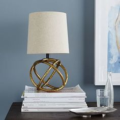 Mini Geodesic Table Lamp #westelm - a pair of these would be awesome nightstand lamps!