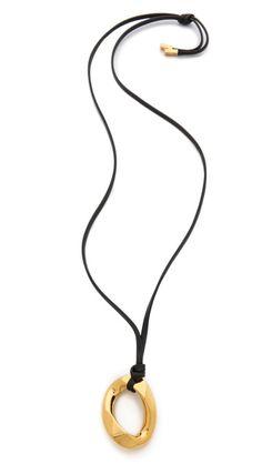 pendant leather necklace