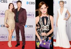 Sequins and beading were all the rage at the 2013 People's Choice Awards on Wednesday night... that is, unless you were Taylor Swift, who went for a white-hot post-breakup stunner of a gown.