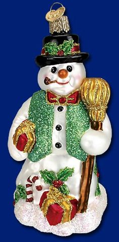 Merry Mr. Snow,  Old World Christmas Glass Ornaments