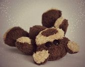 Mini hand sewn plush bear BRUNO ;)