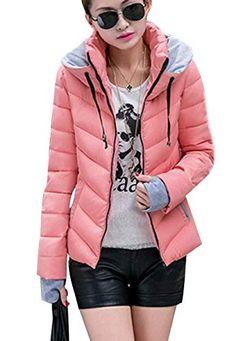 Femme Doudoune Automne Hiver Manches Longues Doudoune Manteau Fashion  Vintage Mode Chic Quilting Blouson Loisir Chaud 5029c52fc073