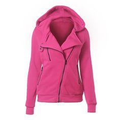 2016 Spring Autumn Lady fleece hoody Women Zipper Hooded Thicken hoodies Women Sweatshirt Hoodies Tops Plus Size XXL 9 Colors