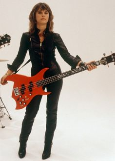 Suzi Quatro - singer/songwriter/bass guitarist from Detroit but has lived in the UK for quite some time.