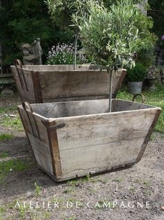 Wooden Large Container Pots See Similar Ones Outside The