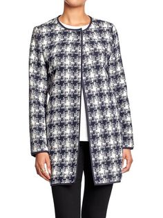 Old Navy Womens Patterned Tweed Jackets - Blue combo by: Old Navy @Old Navy (US)