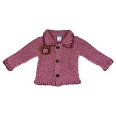 Fair Trade Handmade SHU-SHI Soft and Cozy Baby and Toddler Girls' Cardigan Sweater - Hand loomed cardigan sweater is very soft with a texture and colorful detailing. The fiber is fluffy and lightweight yet wonderfully warm. It is handcrafted in the magical island of Bali. It is finished with a hand crochet trim around the collar, cuffs and hem. With a final touch of a hand crochet flower and hand made buttons crafted from the wood of a coconut tree. #Kidswear #Bali #Clothes #FairTrade…