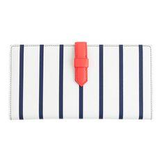 j.crew stripe travel wallet (pockets for boarding pass, passport etc.) | 30% off code: weekend