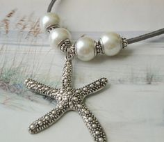Christmas At The Beach Silver Starfish Miovi by OceanaireDreamer, $24.00