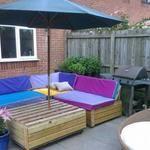 My pallets garden set
