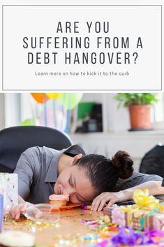 Debt hangovers are all too common. If you're in debt, there is no shame around it. Here's how to cure your debt hangover. How To Make Money, How To Get, Get Out Of Debt, Helping Hands, Getting Out, Investors, Earn Money, Saving Money, Budgeting