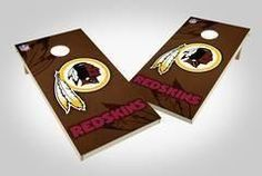 Washington Redskins Single Cornhole Board - Wild