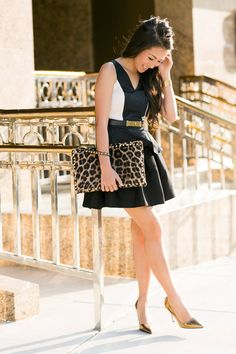 Peek-a-boo :: Cut Out Peplum & Gold Details ( Skirts & Animal Print Clutches ) with Wendy Nguyen