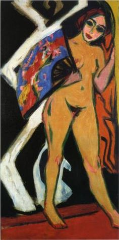 By Ernst Ludwig Kirchner, 1 9 1 0, Dodo with Large Fan.