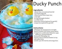 28 Trendy Ideas For Baby Girl Shower Punch Recipes Rubber Duck Baby Shower Punch, Baby Shower Drinks, Simple Baby Shower, Baby Boy Shower, Ducky Baby Showers, Rubber Ducky Baby Shower, Rubber Ducky Punch, Baby Shower Decorations For Boys, Baby Shower Themes
