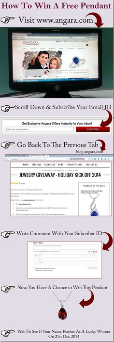Subscribe for a chance to win fine gemstone jewelry! Let's start the season the right way, the Angara way. Angara will be giving away free jewelry to our lucky winner. Simply follow us on www.Angar...