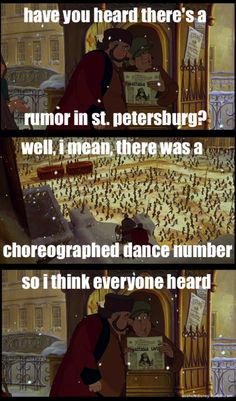 Anastasia joke lolz Yes and I know that it is not Disney, but it is too good to pass up