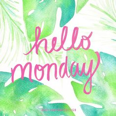 Hello Monday! ☕️ #watercolor #palms #hellomonday