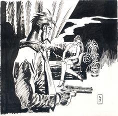Jordi Bernet : Torpedo, in Claudio B's Jordi Bernet Comic Art Gallery Room Vintage Comics, Vintage Art, Kickass Comic, Superhero Art Projects, Jordi Bernet, Comic Kunst, Pulp Art, Cool Cartoons, Comic Artist