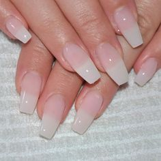 I don't particularly care for coffin-shaped nails of any length, but I like the natural color and glossiness.