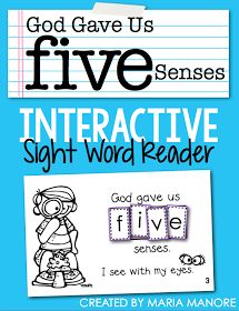 Free Interactive Religious Sight Word Reader