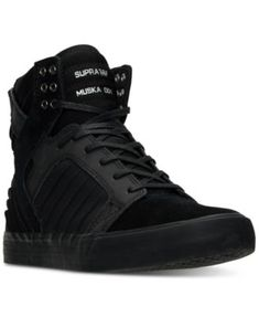 Supra Men's Skytop Evo High-Top Casual Sneakers from Finish Line - Black 13 Mens High Top Shoes, Men's High Top Sneakers, Mens High Tops, Casual Sneakers, Women's Sneakers, Retro Sneakers, Black Sneakers, Mens Fashion Shoes, Sneakers Fashion