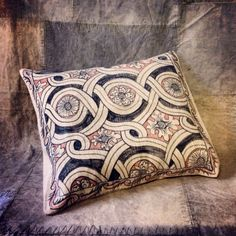 SOLID ID - HAND PAINTED LINEN CUSHION - BRAMLEY FLORAL by Melissa White