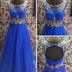 "qpromdress:  "" Cute navy blue chiffon prom dress  """