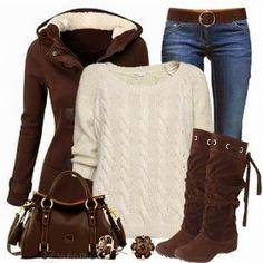 Stylish Winter Outfits Fashion for Ladies Miranda I can see you wearing this!!!