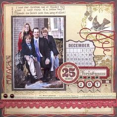 my minds eye lost and found christmas layouts - Google Search:
