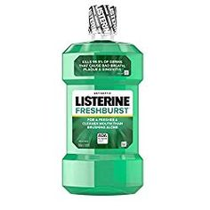 16 OZ of Listerine Freshburst Antiseptic Mouthwash for bad breath, plaque & gingivitis Oral care formula kills of germs that cause bad breath, plaque and gingivitis The spearmint flavor of this antiseptic mouthwash leaves your mouth feeling clean a Best Mouthwash, Listerine Mouthwash, Listerine Cool Mint, Blend A Med, Benzoic Acid, Bad Breath, Oral Hygiene, Oral Health, Dental
