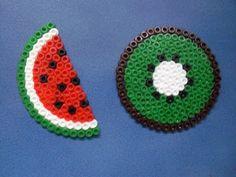 Watermelon Kiwi hama beads