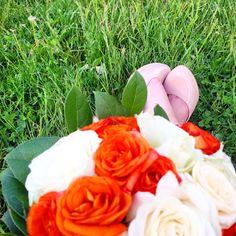 Pieds du bouquet de la mariée!