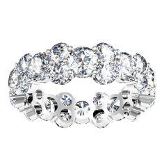 Round Diamond Garland Eternity Ring