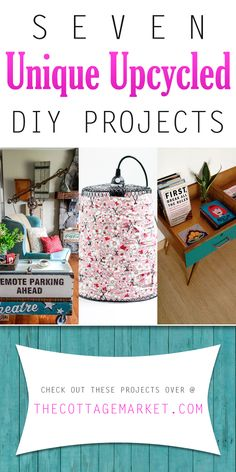 Seven Unique Upcycled DIY Projects - The Cottage Market #Upcycled, #Upcycle, #Upcycling, #UpcycledDIYProjects, #UpcycledDIY, #UpcycledProjects, #RepurposedDIYProjects