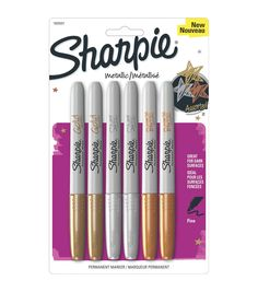 Shop for Sharpie Metallic Permanent Markers Silver, Bronze. Get free delivery On EVERYTHING* Overstock - Your Online Scrapbooking Shop! Sharpies, Gold Sharpie, Sharpie Crafts, Sharpie Markers, Black Sharpie, Gold Gold, Bronze Gold, Gold Pen, Dark Sombre