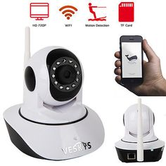 ﹩20.99. Wireless 720 HD Pan Tilt Night Vision Security CCTV Camera WiFi IP Webcam IR-CUT