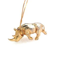 Fab.com   Rhino Necklace Gold Plate
