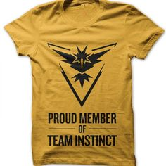 Proud Member of Team Instinct t-shirt by Clique Wear Pokemon T, Gotta Catch Them All, Videogames, How To Make, How To Wear, Fandoms, Board, Mens Tops, Christmas
