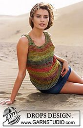 Ravelry: 0-395 Crochet top pattern by DROPS design