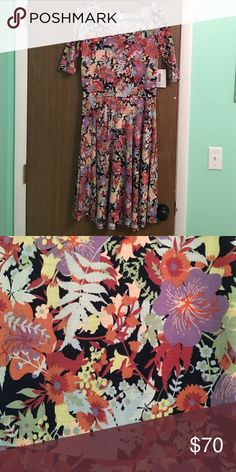 LuLaRoe Unicorn Nicole Floral Pretty floral nicole perfect for any season. LuLaRoe Dresses