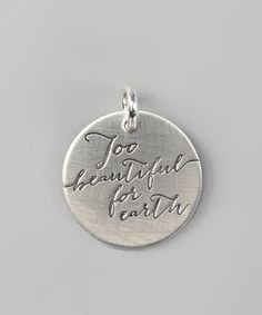 Sterling Silver Expressions 'Too Beautiful for Earth' Charm | Daily deals for moms, babies and kids