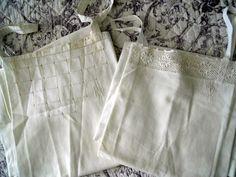 2 French antique chemise nightgown monogram embroidery de la boutique MadameSoussou sur Etsy