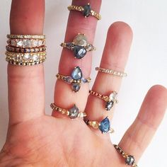 Amazing handmade Polly Wales rings!